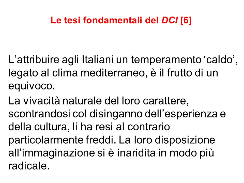 Le tesi fondamentali del DCI [6]
